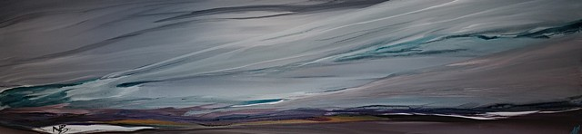Kelowna Abstract Artist horizontal grey purple