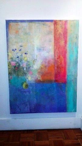 """Still Life I"", 2016 Acrylic on Canvas Courtesy of Roberta Zlokower"