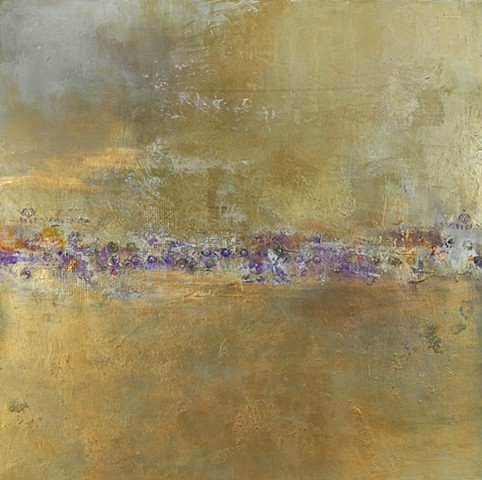 "Bronze Reflections Mixed Media on Canvas 36""x36"""