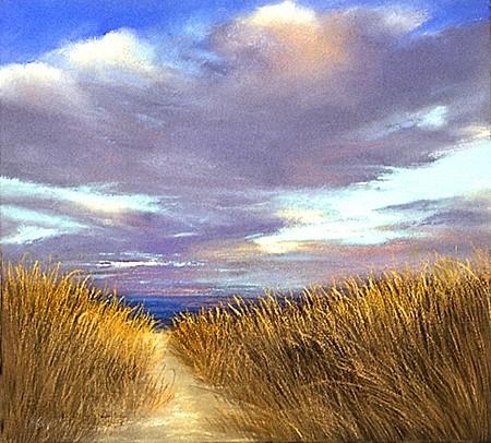 "Beach Grasses Pastel 14.25"" x 15.75"""