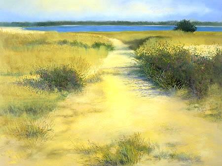 """Sammy's Beach Pastel 22"""" x 29½"""""""