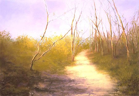 "Early Spring, Gardiner's Bay Pastel 18"" x 26"""