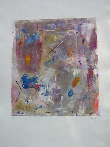 Serendipity Monoprint 12'' x 11''