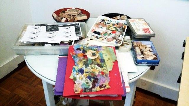 Artist's Collage Materials Courtesy of Roberta Zlokower