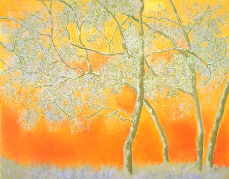 "Spring Trees Pastel 30"" x 38"" (sold)"