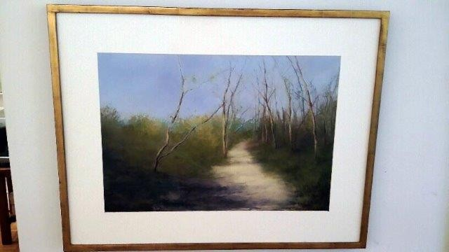 """Early Spring, Gardiner's Bay"", 2008 Pastel on Paper Courtesy of Roberta Zlokower"