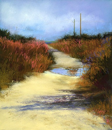 """After the Rain Pastel 28"""" x 14"""""""