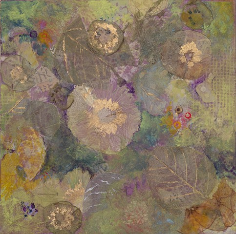 "Primavera II Mixed Media on Canvas 12""x12"""