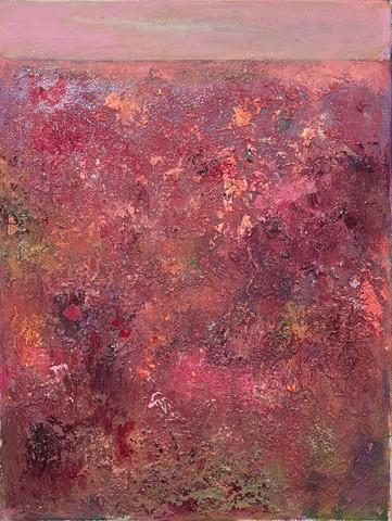 """Cranberry Bog Acrylic on Canvas 14""""x11"""""""