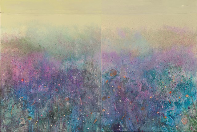 The Violet Hour (Diptych) (SOLD)