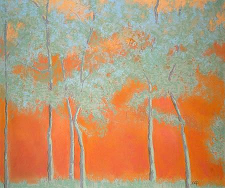 "Tango Trees Pastel 30"" x 35"""