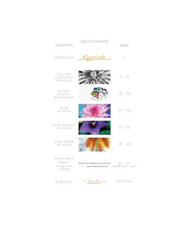 Flourish Magazine Table of Contents
