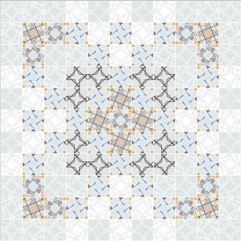 ka. lei. do. scope Ceramic Tile Collection Layouts - Option Two