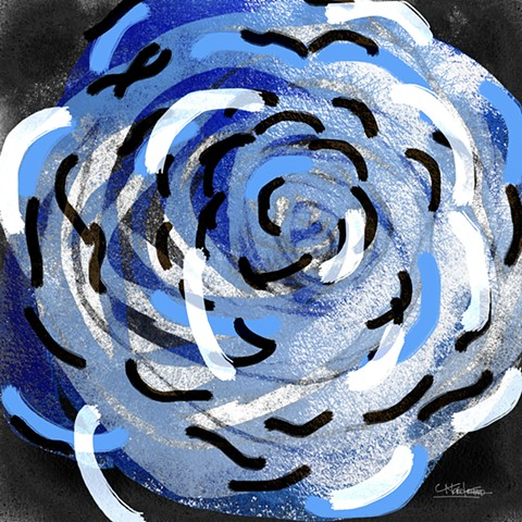 Whirling Collection Whirling RoseBlueWhite