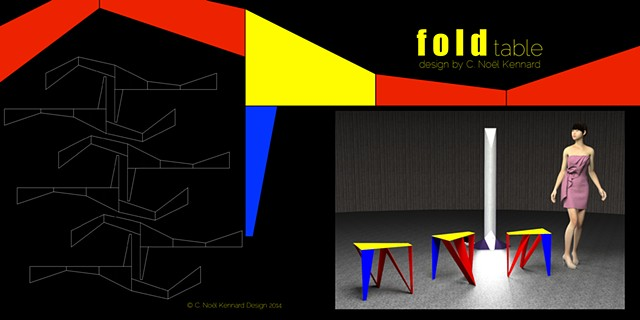 fold side table promo poster
