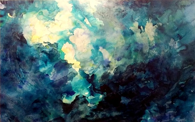 julie hylands abstract painting ocean art
