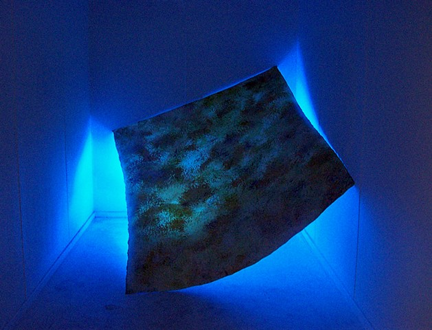 julie hylands light installation painting abstract float