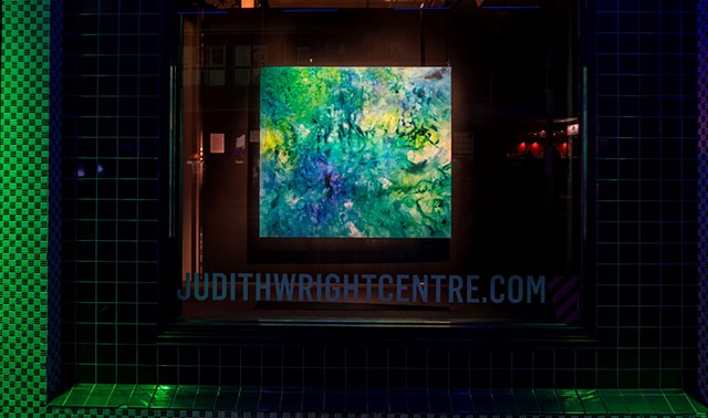julie hylands light installation exhibition judith wright centre painting abstract otherworldly art