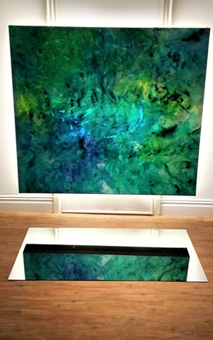 julie hylands light installation painting abstract