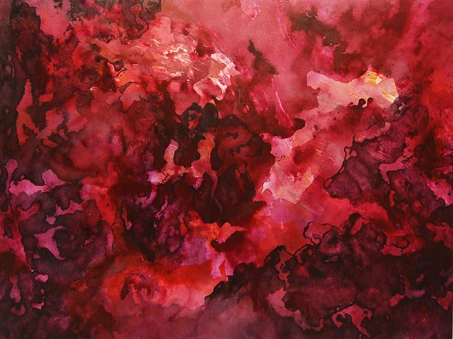 julie hylands abstract painting art rose