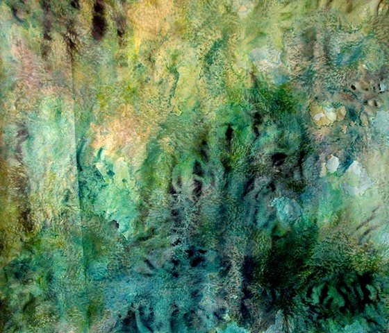 julie hylands abstract painting river art