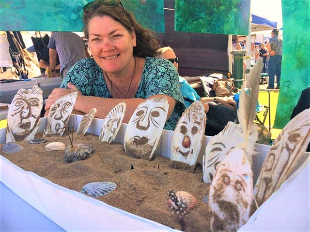 julie hylands cuttlefish carving ocean art workshop oceanfest