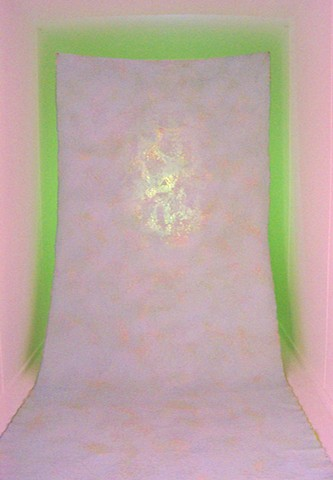 julie hylands light installation abstract painting