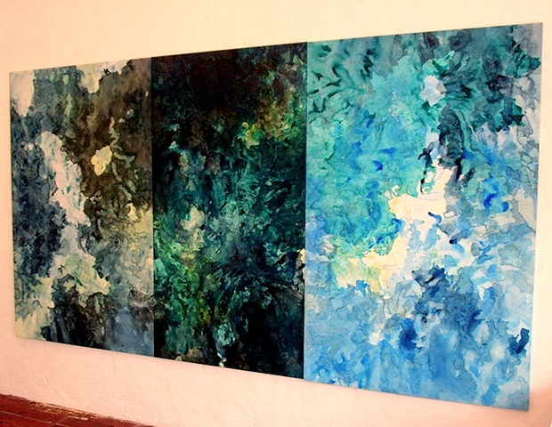 julie hylands abstract painting ocean art exhibition free range gallery