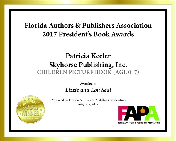 Florida Authors and Publishers Award  LIZZIE AND LOU SEAL