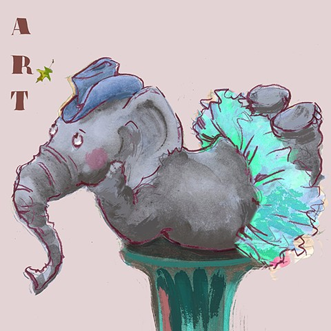 elephant, Patricia Keeler illustrator, patriciakeeler artists, patricia Keeler, patriciakeeler, patriciakeeler-author-illustrator, play, boy, girl, kids, children, Patricia Keeler, children's book illustrator, Melonie Hope Greenburg, Karen Lee Schmidt, Ti