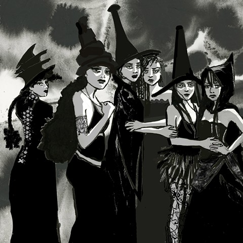 witch, witches, coven, full moon