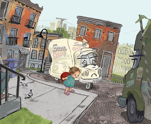 ICE CREAM, ICE CREAM TRUCK, Kathy Temean, Barbara DiLorenzo, Jason Kirshner, Diana Ting Delosh, picture books, New Yorker Magazine, fashion, girls, dress-up