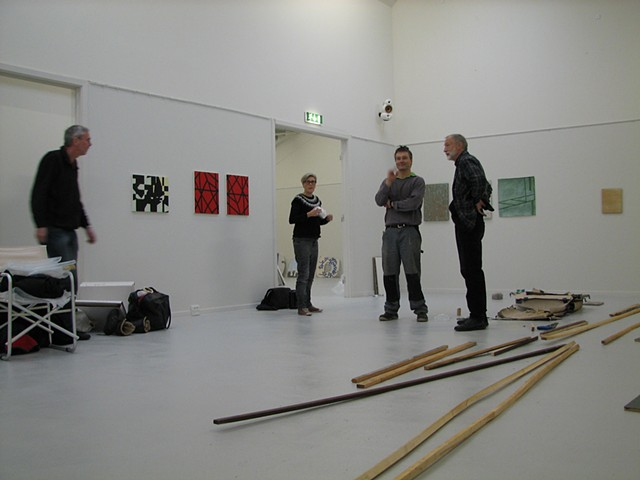Installation view during hanging at Janusbygning Denmark
