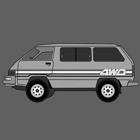 """Toyota 4WD Van, 2020, 12.5""""x19"""""""