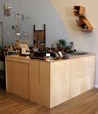 "Custom Display/Counter for Marion & Rose, Oakland, CA.  1/2"" Baltic Birch Plywood, 2018"