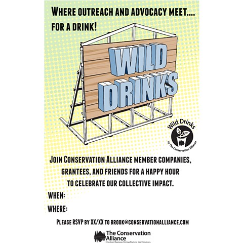 Conservation Alliance/Wild Drinks flyer.