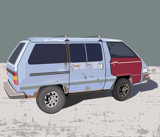 Toyota van - personal project