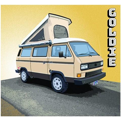 "VW Westfalia ""Goldie"" - commission"