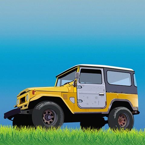 Toyota Landcruiser - Digital Illustration