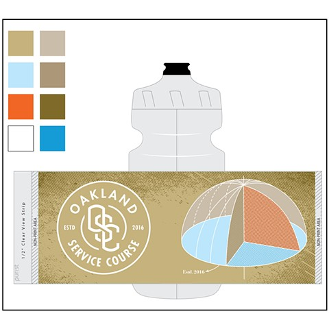 Water bottle design for Oakland Service Course - Oakland, CA
