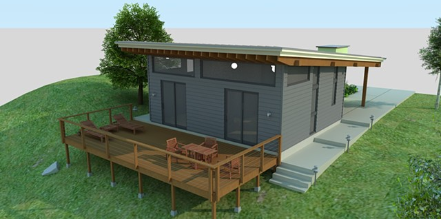 780 Sq. Foot Home modeled in SketchUp and rendered in SU Podium.