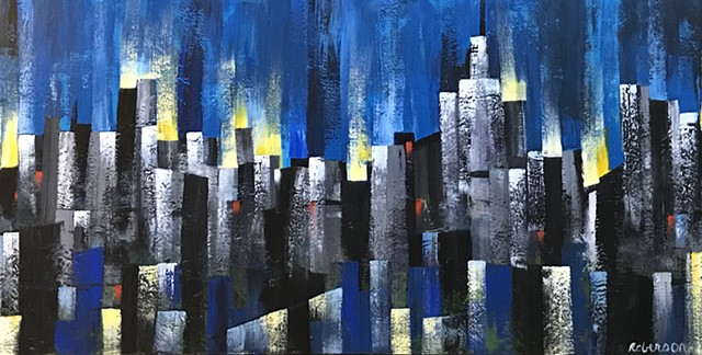 Midcentury modern cityscapes
