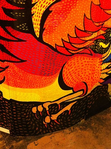 phoenix mural at Marty's P.M.