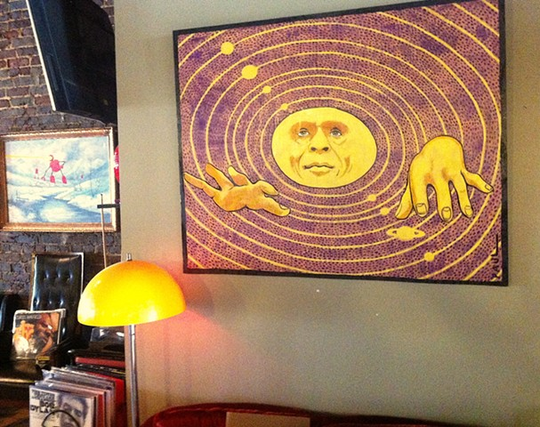 Sun Ra portrait for the Saturn venue