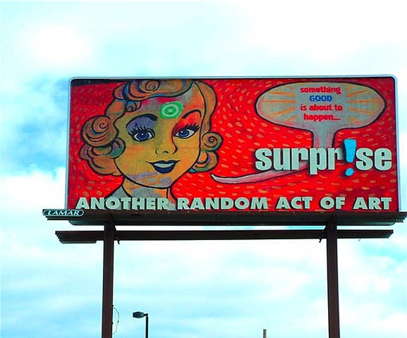 Random Act of Art billboard design