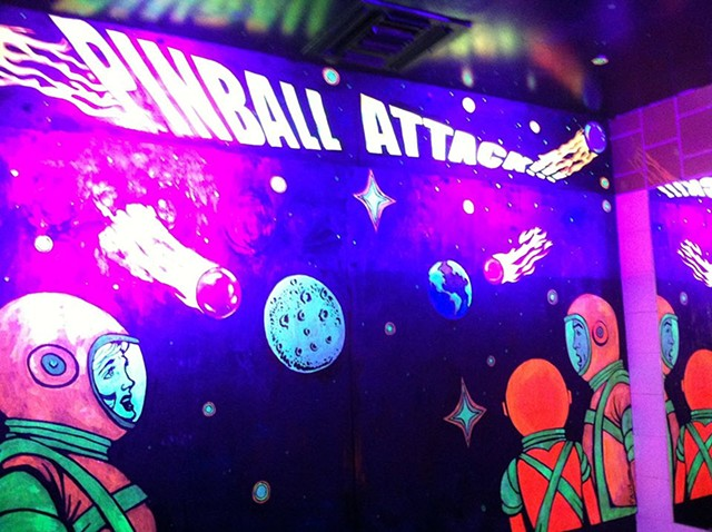 Saturn's pinball room