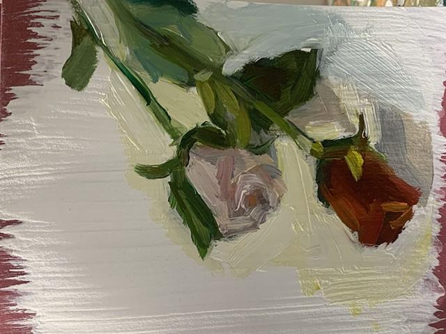 Original rose paintings