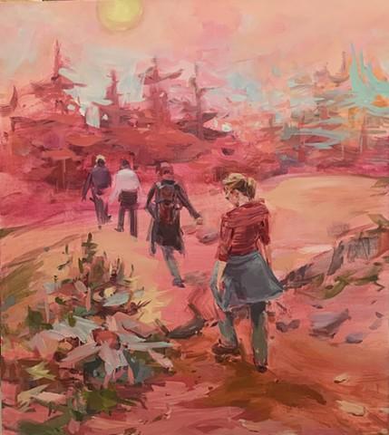 Hikers in Acadia