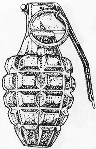 Grenade (stipple study)