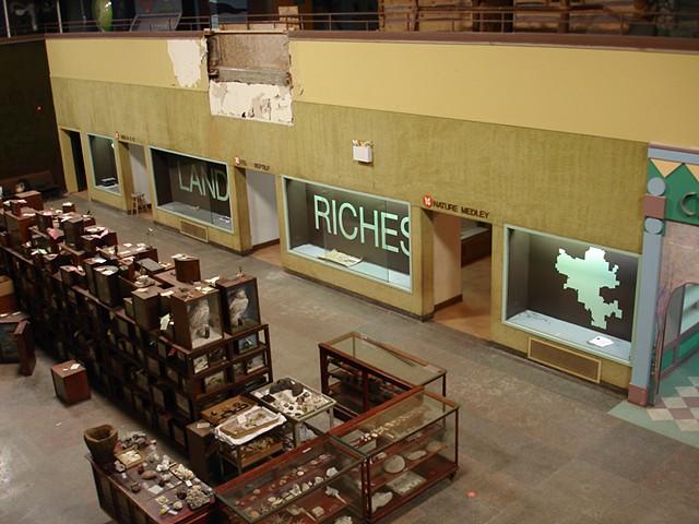 Land of Riches, in progress (mezzanine view)